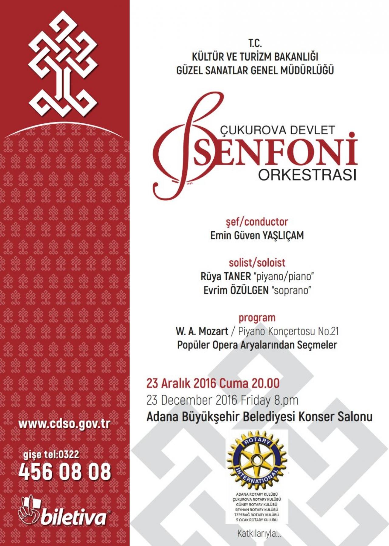 Çukurova Senfoni Orkestrası Yeni Yıl Konseri