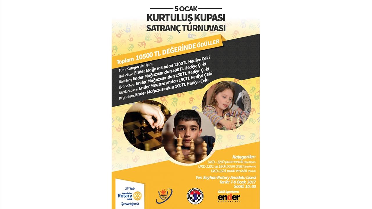 5 Ocak Kurtuluş Kupası Satranç Turnuvası