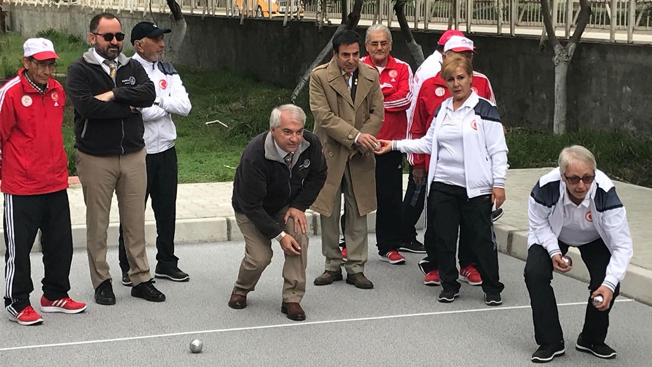 """Adana Huzurevine Kazandırdığımız """"Bocce"""" Tesisinin Açılışı Yapıldı"""
