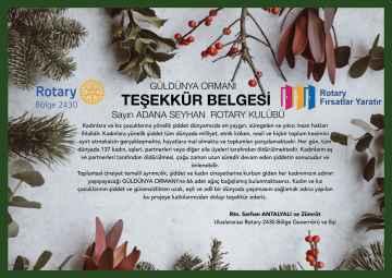 GÜLDÜNYA ORMANI'na 66 adet ağaç bağışladık.